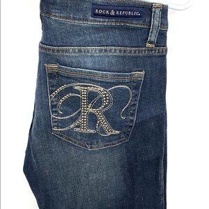 Rock & Republic Skinny Jeans Sz 10 studded pockets